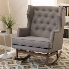 Baxton Studio Iona Mid-Century Gray Fabric Upholstered ... Best Home Furnishings Xpress Steffen 1018 Mid Century Coaster Midcentury Modern Beige Rocking Chair Del Monte Traditional Blue Fabric Push Back Recliner Retro Upholstered Relax Rocker Grey Carson Carrington Honningsvag Midcentury Light Bridgeport Swivel Glider Yashiya J2funk Rockerswivel Choice Products Tufted Polyester Lounge W 360degree Details About Wrought Studio Raya