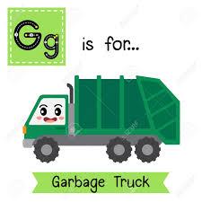 100 Garbage Truck Kids Letter G Cute Children Colorful Transportations ABC Alphabet