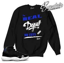 100 Space Jam Foams Jordan 11 No Cuts Sweater
