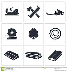 Woodworking Icons Set Icon Collection On A White Background Royalty Free Stock Images