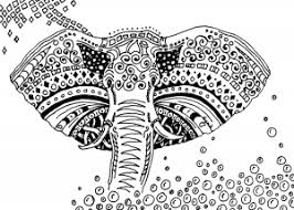 Coloring Adult Africa Elephant Free To Print