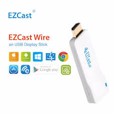 TV Stick EZCast Wire HDMI USB Display Support iOS iPhone AirPlay