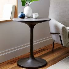 Concrete Pedestal Side Table West Elm Pedestal Coffee Table In