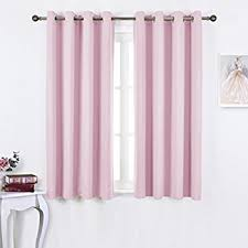 Light Pink Ruffle Blackout Curtains by Amazon Com Nicetown Blackout Curtains For Girls Room Nursery