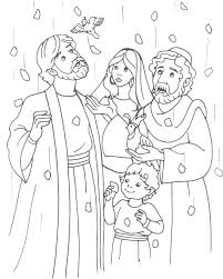 Bible Coloring Pages Moses Exodus Manna Bread And Quail From Heaven Story Baby