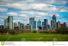 100 Austin City View Zilker Park Texas Dramatic Patchy Clouds Early Spring 2016