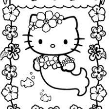 Hello Kitty Dressed As A Mermaid Coloring Pages Miss