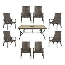 Patio Dining Sets Home Depot by Hampton Bay Pembrey 9 Piece Patio Dining Set Hd14227 The Home Depot