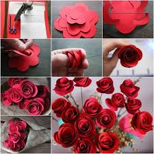 Easy Paper Rose Flowers Craft Tutorial Step By
