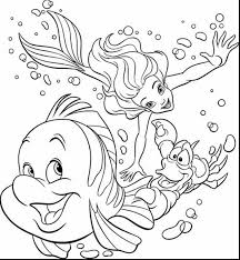 Spectacular Disney Coloring Pages With Princess And Ariel