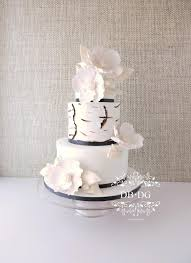 Modern White Rustic Wedding Cake By DBDG