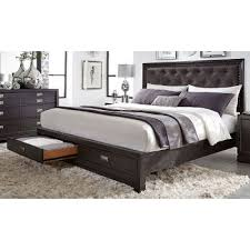 Rc Willey Bunk Beds by Licorice Black Contemporary King Storage Bed Front Street Rc