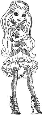 Ever After High Lovely Raven Queen Coloring Pages