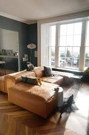 Living Room Ideas Brown Leather Sofa by Best 25 Tan Leather Sofas Ideas On Pinterest Midcentury Dog