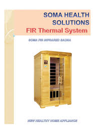 Infrared Lamp Therapy Ppt by Soma Fir Infrared Sauna A New Healthy Home Appliance