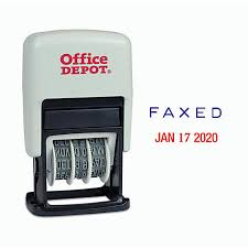 fice Depot Brand Self Inking 3 In 1 Micro Dater RedBlue by