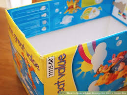 3 ways to make a lined storage bin from a diaper box wikihow