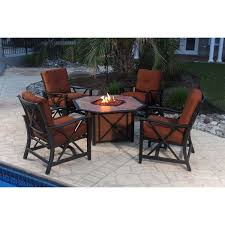 Agio Patio Furniture Covers by 5 Piece Patio Fire Pit Set Haywood Rc Willey Furniture Store