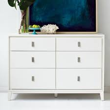 South Shore 6 Drawer Dresser White by Niche 6 Drawer Dresser White West Elm In 6 Drawer Dressers