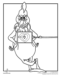 The Grinch Who Stole Christmas Coloring Pages Grinchs Heart Grew 3 Sizes Page