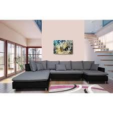 canapé 5 places pas cher canapé d angle gauche panoramique 5 places simili tissu tahiti pas