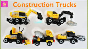 100 Toy Construction Trucks Speed Build Toy Construction Trucks Egg Surprise For Kids Lego