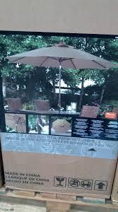 9 Ft Patio Umbrellas With Tilt by Sunbrella 9 Foot Aluminum Patio Umbrella With Auto Tilt Costco