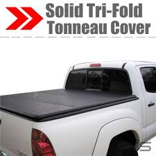 Lock Tri-Fold Hard Solid Tonneau Cover For 2009-2018 FORD F-150 5.5 ...