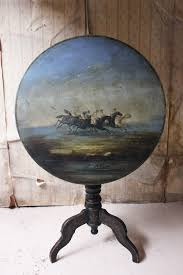 Unusual 19thC French Horse Painted Tripod Table - Antiques Atlas