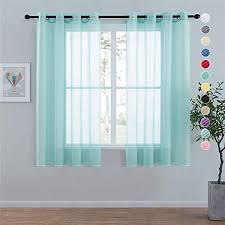 topfinel voile vorhänge leinenstruktur mit ösen lichtdurchlässig einfarbig für fenster wohnzimmer schlafzimmer moderne und elegante gardine 2er set je
