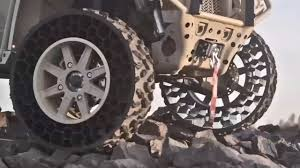 100 Airless Tires For Trucks Military Never Puncture YouTube