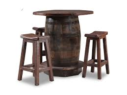 Wildwoods Reclaimed Whiskey Barrel 4 Piece Reclaimed Whiskey Barrel ... Kitchen Pub Tables And Chairs Fniture Room Design Small Kitchenette Table High Sets Bar With Stools Round Bistro Bistro Table Sets Cramco Inc Trading Company Nadia Cm Bardstown Set With Bench Michaels Contemporary House Architecture Coaster Lathrop 3 Piece Miskelly Ding Indoor Baxton Studio Reynolds 3piece Dark Brown 288623985hd 10181 Three Adjustable Height And Stool Home Styles Arts Crafts Counter