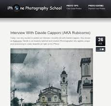 Interviewed on iPhone graphy School