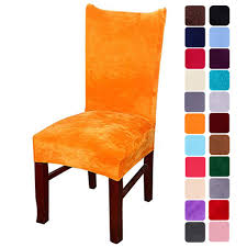 Smiry Velvet Stretch Dining Room Chair Covers Soft Removable Dining Chair  Slipcovers Set Of 4, Orange Ding Room Chair Leather Design Optic Upholstered Chair Retro Cognac Brown Beige 2er Set Amazing Rooms Chairs Set Cushions Table Michael Anthony Fniture Burnt Orange Oak Nyekoncept Mid Century Eiffel Side Amazoncom Cjc Of 2 Faux Kitchen Chairsbrown Art Deco St030 Transitional Midcentury Modern Dering Hall Mediterrean With Hand Painted Hgtv Christopher Knight Home 298997 Anise Of Green Tea With Casters