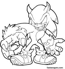 Free Printable Sonic Hedgehog Coloring Pages