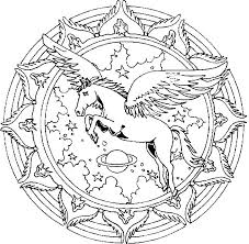 Pegasus Coloring Pages Of Unicorns And Page Unicorn Download