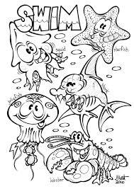 Printable Ocean Coloring Pages Kids Animal Zoo Free Complex Farm Sea Alphabet Jungle Preschool Baby Safari