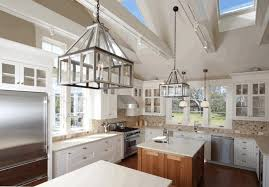 light fixtures for vaulted ceilings grey kitchen island modern
