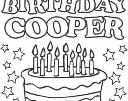 Coloring Page Color By Name DIY Kids Birthday Party