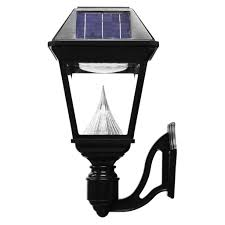 gama sonic imperial ii wall mount solar light commercial grade