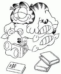 Cozy Naptime Garfield Coloring Page