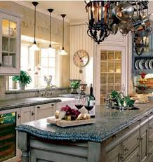 Curves Faucet Set Iron Pumpk Country Kitchen Decor Marble Wood Table Top Wooden Ceiling Beams White Colorful Backsplash