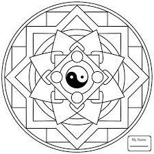 Arts Culture Tibetan Mandalas Mandala With Ayyavazhi Coloring Pages For Kids