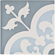 Home Depot Merola Lantern Ceramic Tile by Merola Tile Cemento Empress Ocean 7 7 8 In X 7 7 8 In Cement