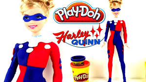 ♥ PlayDoh Harley Quinn Batman Barbie Doll Playdough Creation
