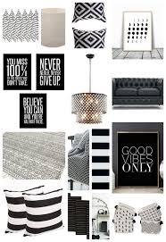 Home Decor Black And White Stripes Back