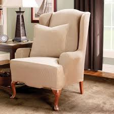 Decor: Pretty Design Of Wingback Chair Covers For Chic Furniture ... Best Gdf Brown Chairs Slipcovers Lowes Lounges Studio Terry Set How To Make Arm Chair For Less Than 30 Howtos Diy Fniture Charming Recliner Covers For Prettier Ideas Custom Hemp Update Old Slipcovers Sofa 29 Unique Slip Fernando Rees Comprar Sofa Chaise Longue Grande Breathtaking Eames Slipcover Cover Couch Cheap Lovely Target Living Room Corseted Slip Covers Instantly Change The Look Of Your Chairs Indoor Slipcovered Ding Sashes 2 Seater Stretch Lounge Sothebys Home Designer Mitchell Gold Bob Williams