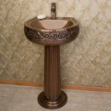 Pedestal Sinks For Small Bathrooms by Bathroom Small Bathroom Sink Ideas With Vine Hammered Texture