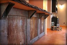 Rustic Reclaimed Tin With Wood Slab Counter Topwould Look Amazing The Chicken Wire Cabinets Would Great For An Outdoor Kitchen