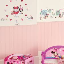 chambre minnie mouse minnie mouse tick tock glow in the clock wall stickers